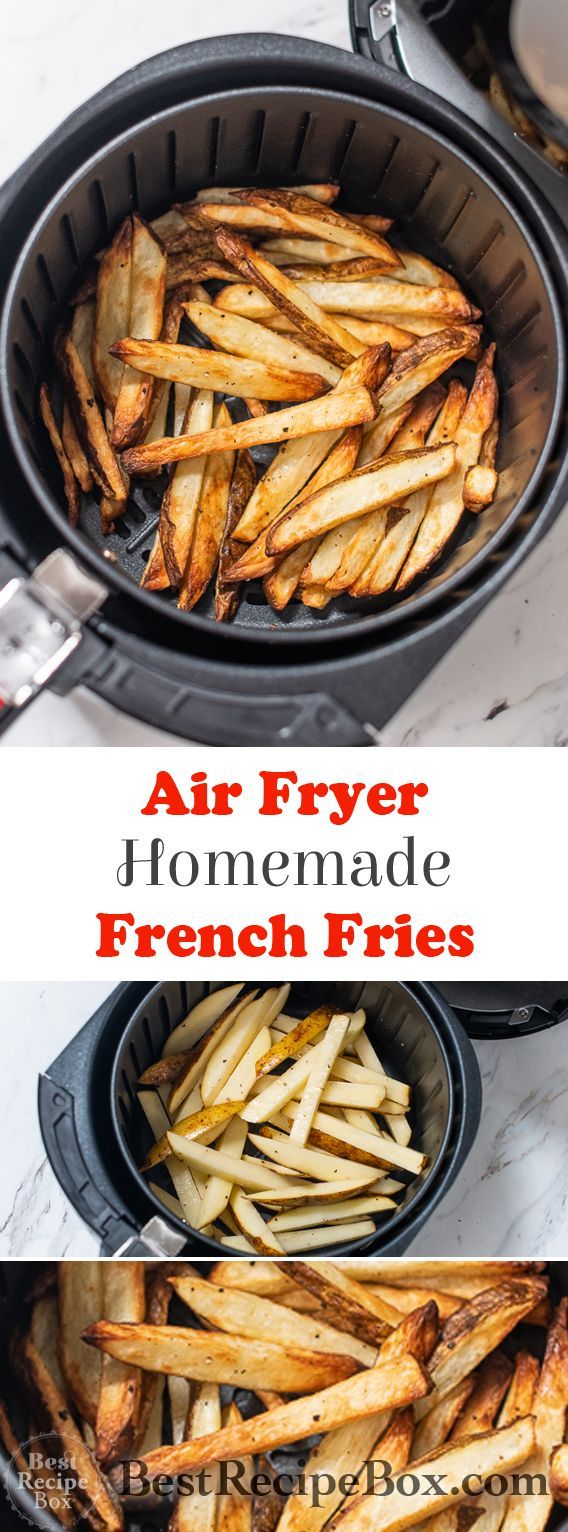 Homemade Air Fryer French Fries Recipe | Healthy Crispy Easy