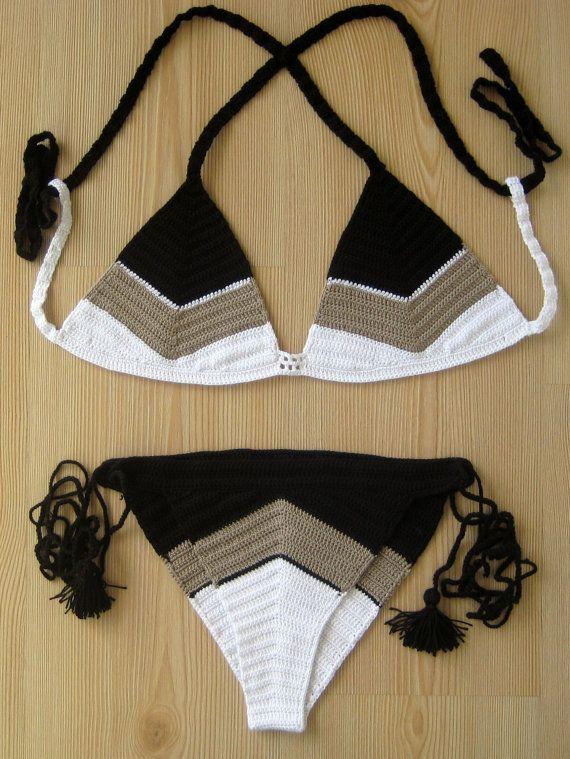 fbcecf975f2 FREE SHIPPING Batik crochet bikini women bikini от formalhouse Crochet  Fashion, Crochet Beach Dress,