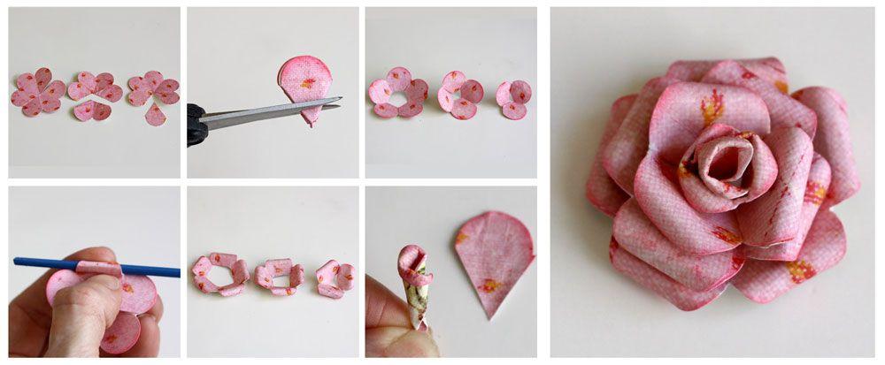 cmo hacer rosas de papel - Hacer Rosas De Papel
