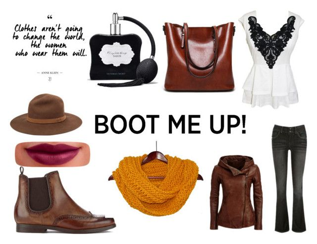 """Chelsea Boots"" by gothicvamperstein on Polyvore featuring H by Hudson, rag & bone, Burt's Bees, Victoria's Secret and chelseaboots"