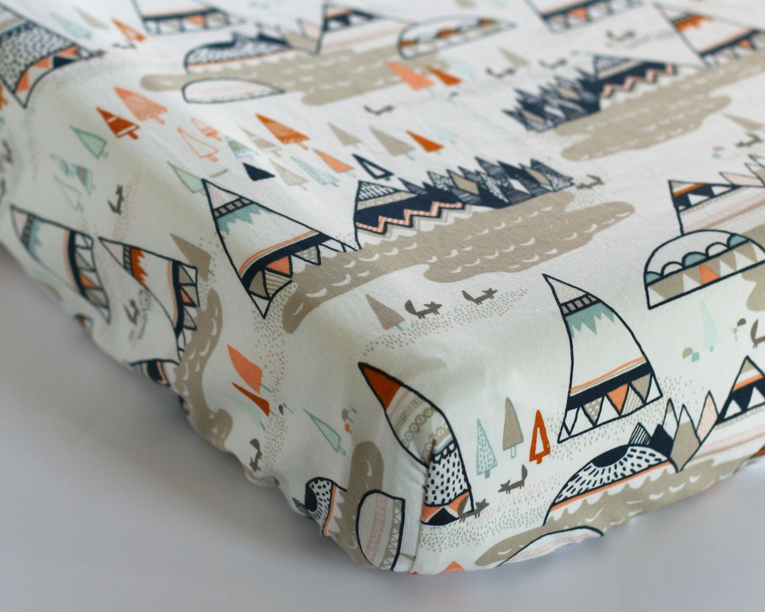 Changing Pad Cover, TeePee Crib Sheet, Indian Summer