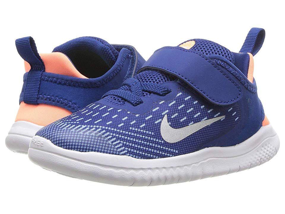 buy popular 95217 8e5d5 Nike Kids Free RN 2018 (Infant/Toddler) Girls Shoes Gym Blue ...