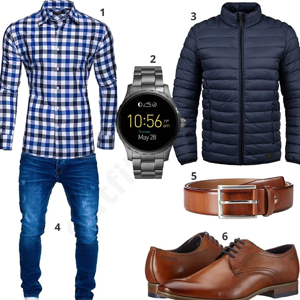 Herrenoutfit mit kariertem Hemd Jeans und Boots | Fashion in