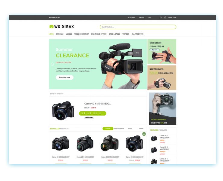 Download Free WS Dirax Wordpress theme | Best Free Wordpress themes