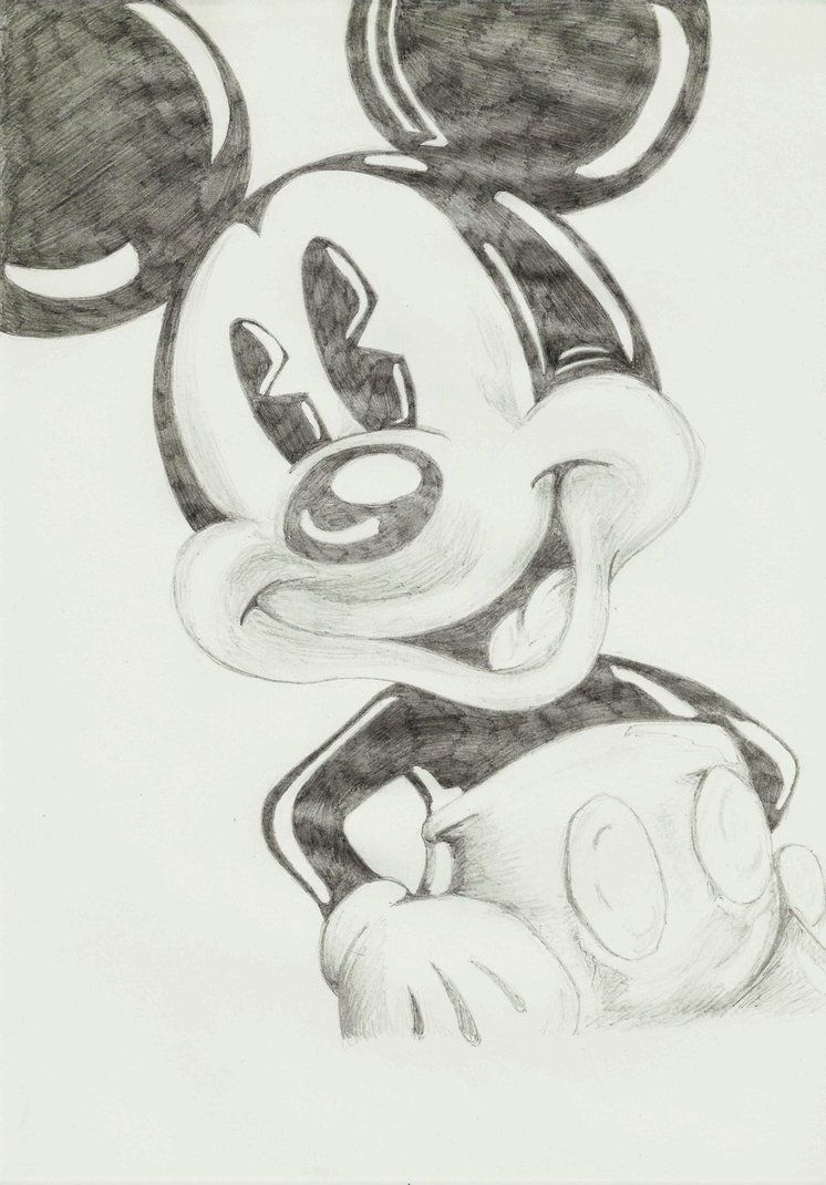 Mickey mouse pencil drawings pencil drawings of mickey and minnie