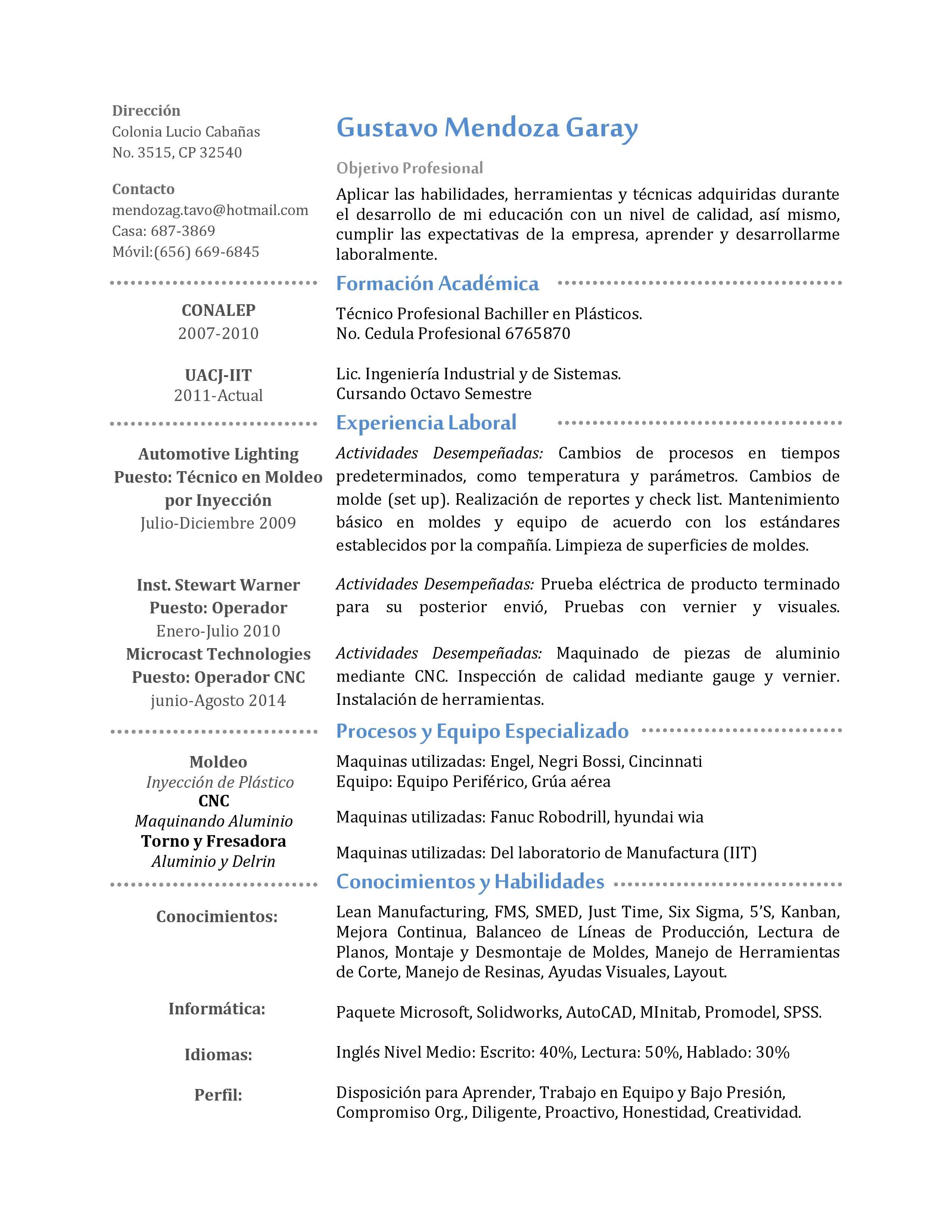 Industrial Design Resume Curriculum Vitae Engineer Industrialprocessmanufacturing Cv