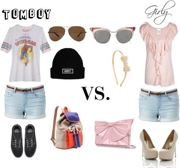 fa17890a6a74 Tomboy VS. Girly   vs.   Girly outfits, Tomboy fashion, Tomboy