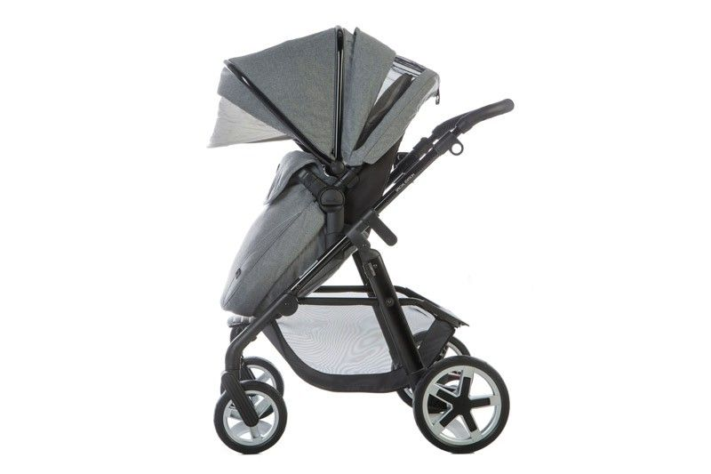 The luxurious brushed suiting fabric, the finely detailed stitching, the discreet application of chrome highlights - everything combines to elevate this high performance travel system into a class of its own.