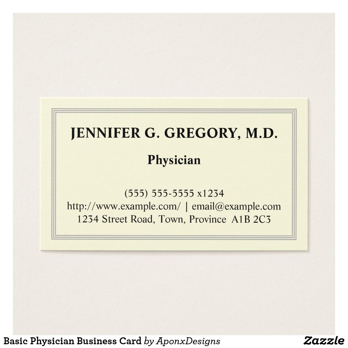 Basic Physician Business Card | Business cards