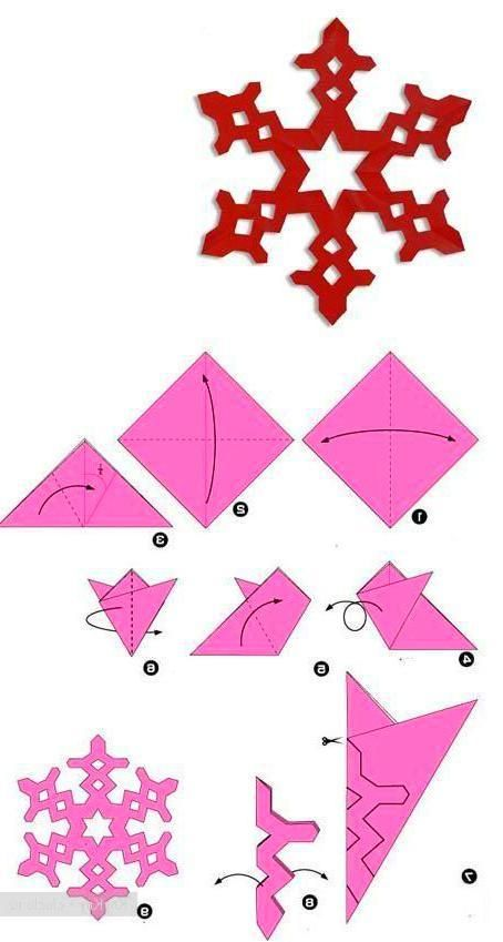 Snowflake Craft Christmas Crafts Diy Diy Christmas Snowflakes Paper Crafts Diy