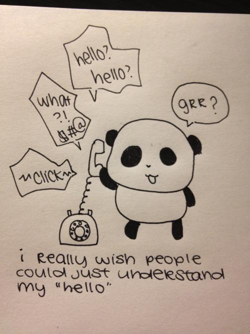 Sad Panda phone problems.