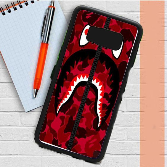 huge selection of d3ade 693ac Bape Red Samsung Galaxy S8 Case Casefreed | bape | Galaxy s8, Bape ...