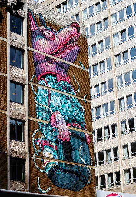 Aryz - Grandes murales - Cultura Colectiva  #streetart #arteurbana #urbanart #gafite #wall #arte #spray