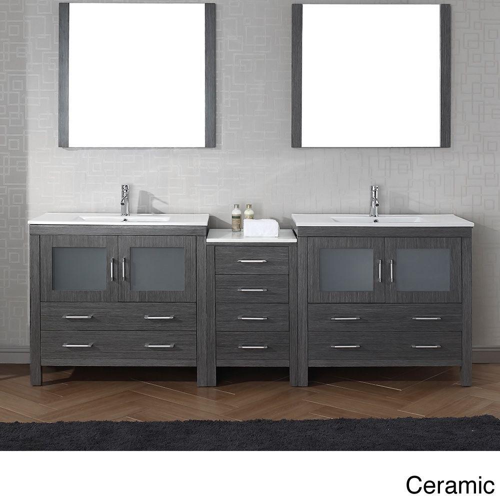 90 Inch Double Sink Bathroom Vanity: Virtu USA 90 Inch Dior Double Sink Vanity Is The Essence