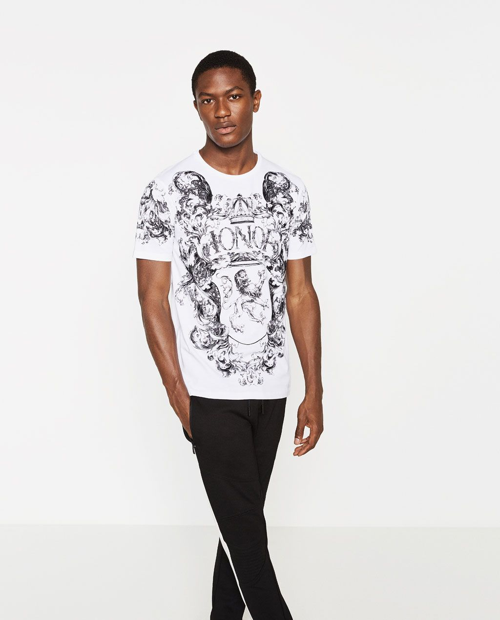 5d2e18cb ZARA - MAN - STRIPED T-SHIRT WITH PATCHES | Men in Graphic | Zara ...