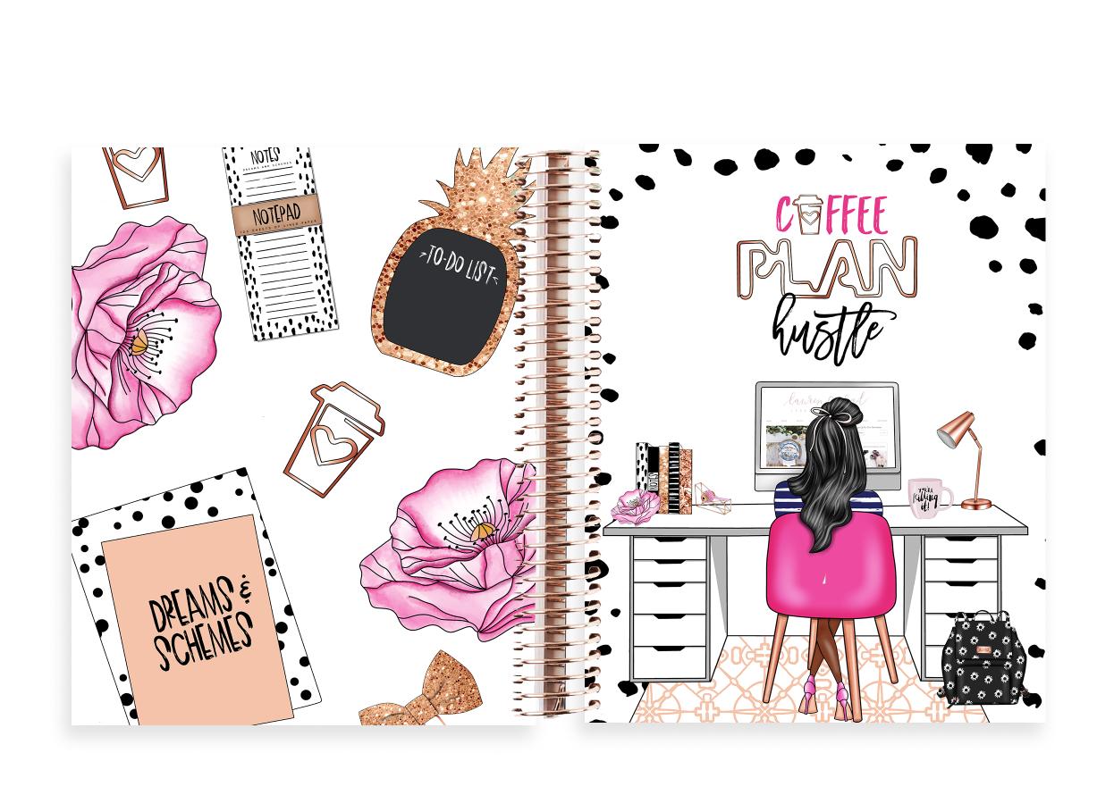 The Stylish Way Planner Planner Girl 12 Months Undated