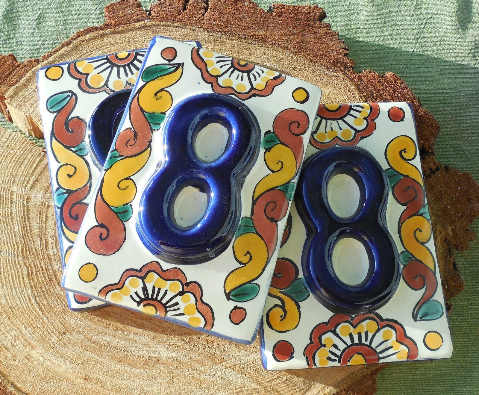 spanish/mexican tile house numbers for table numbers | clients