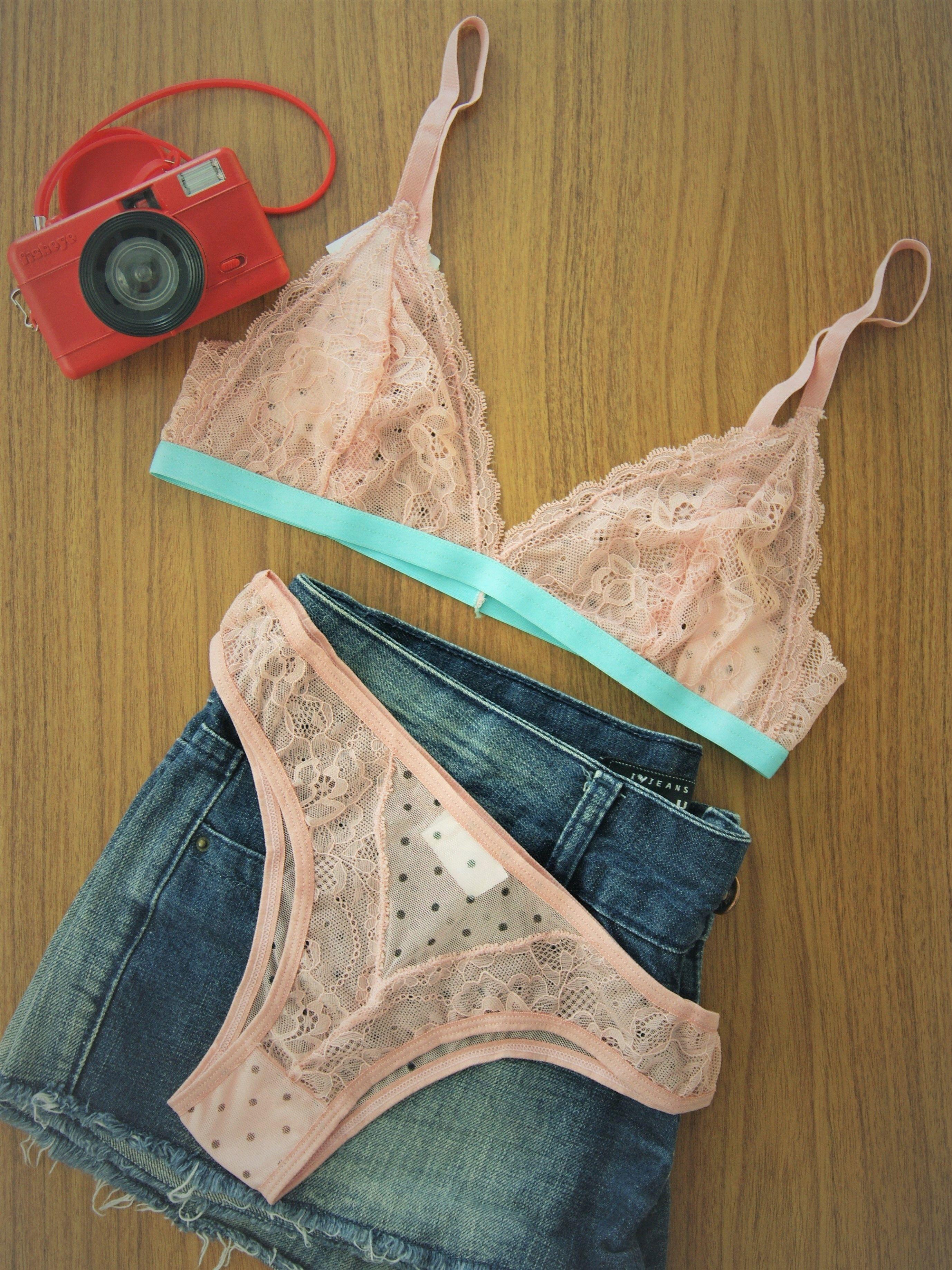 9741b981571 Um encanto esse conjunto de lingerie todo em tule e renda, rosa com poá,