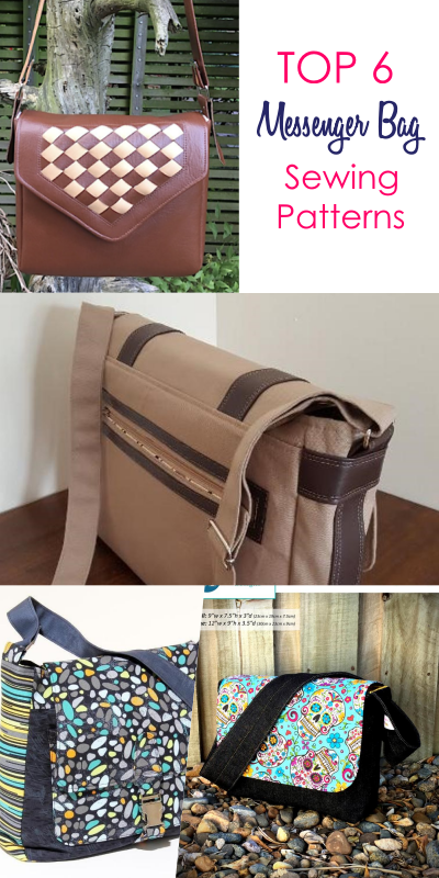 7 Best Messenger Bag Patterns that are Easy to Sew #bagpatterns