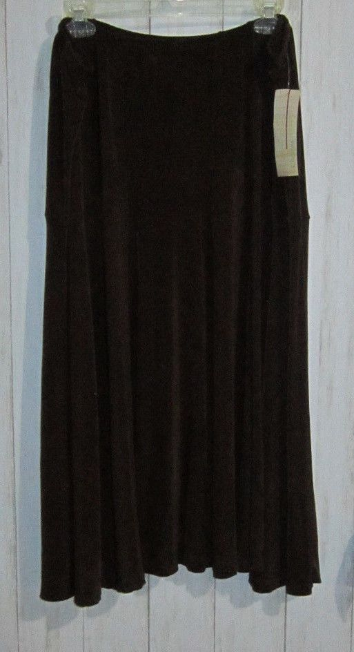 476407153c3 Choices Woman Stretch Knit Pull On Skirt Womens Plus Size 2X Brown Acetate  Nwt  ChoicesWoman