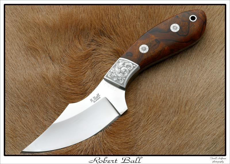 """""""My Knife"""" by Robert Ball.  Comes in BG-42, S60V and 440C. A very good large skinner."""