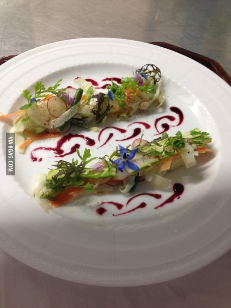 My dish, exam in french gastronomy school