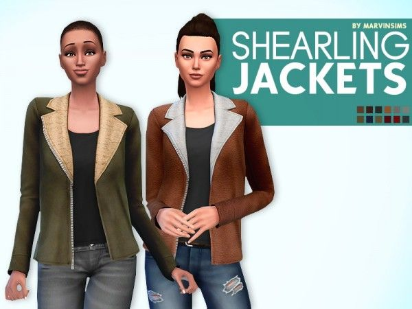 Marvin Sims: Shearling Jackets • Sims 4 Downloads