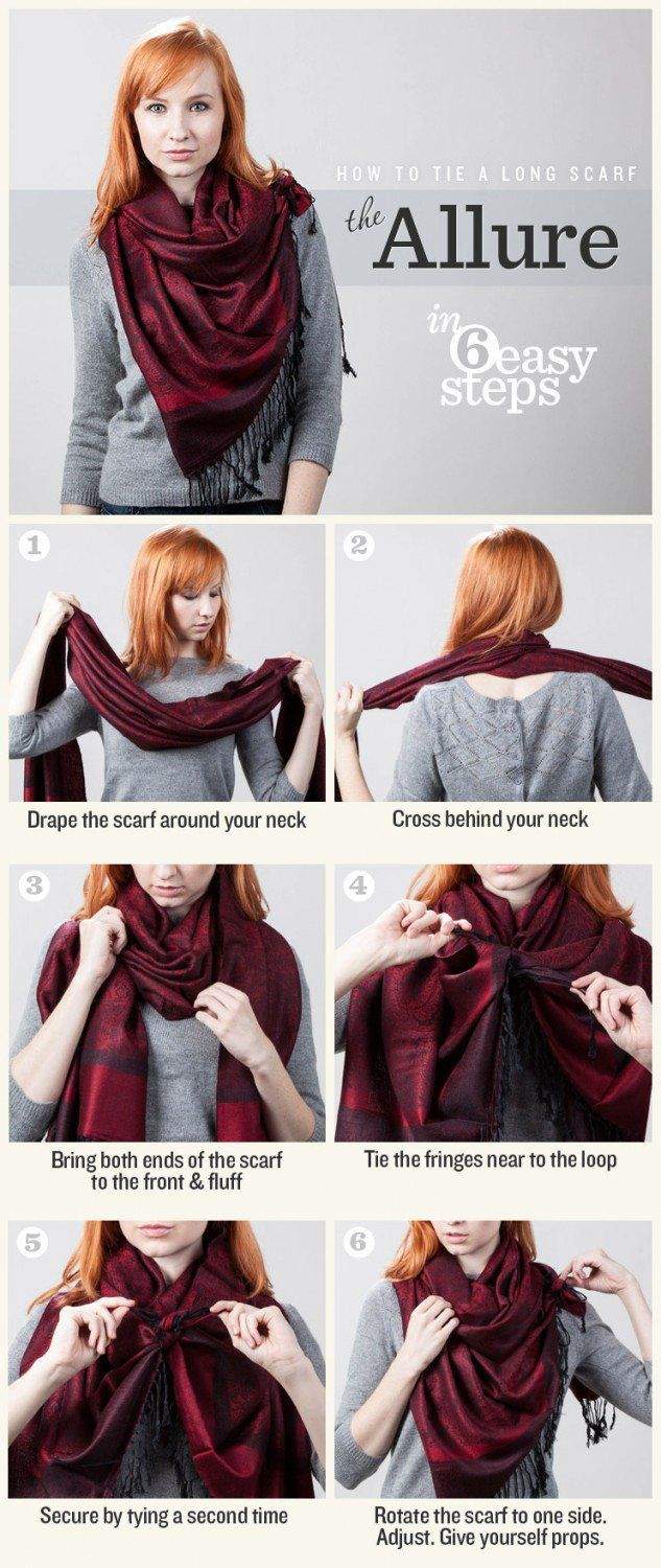 7 Different Ways To Wear A Scarf This Winter   Model pakaian hijab ... 6efafb81789