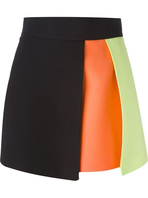 Shop Fausto Puglisi colour block skirt in Divo from the world's best independent boutiques at farfetch.com. Shop 300 boutiques at one address.
