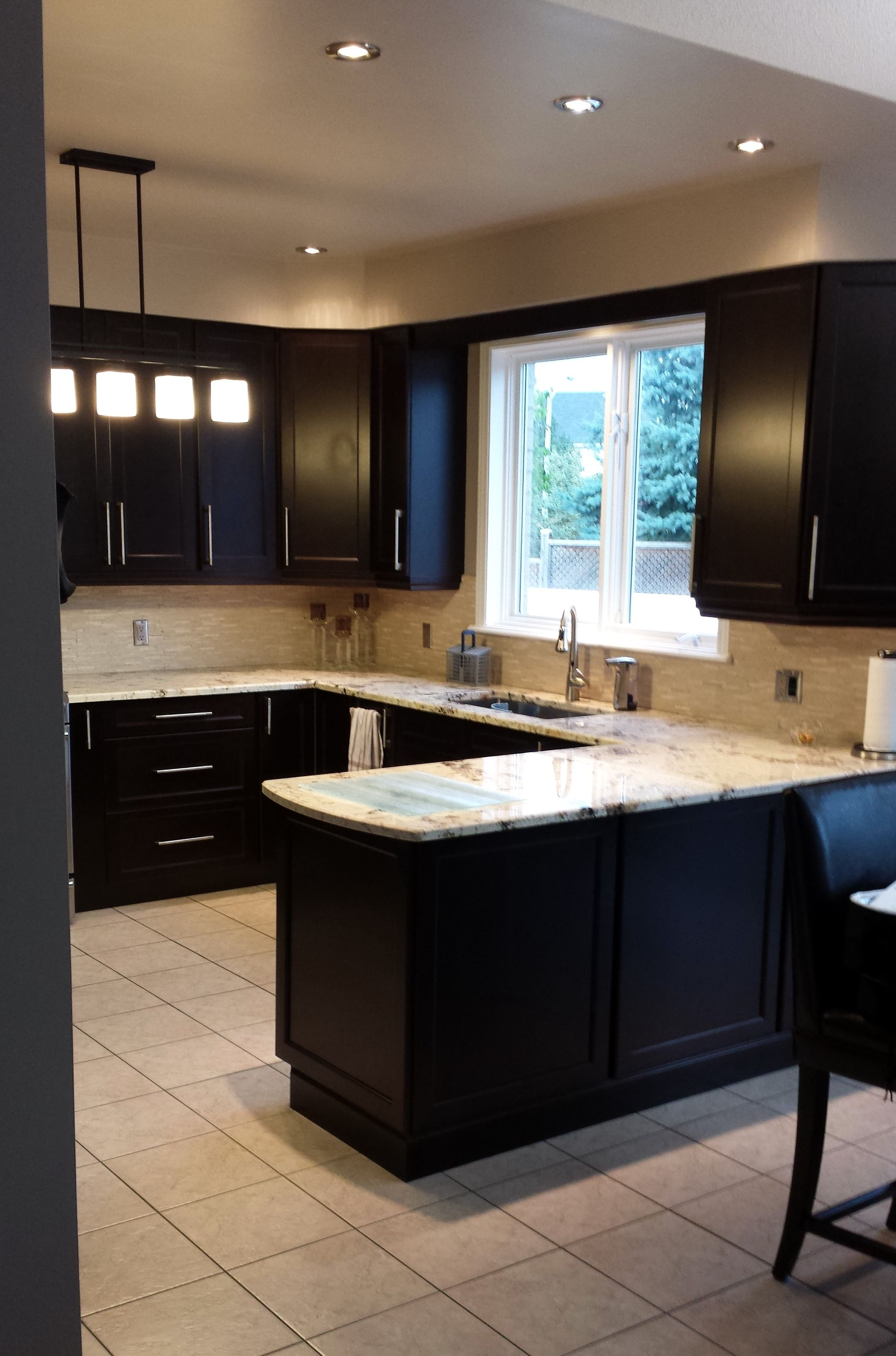Kitchen Craft Touren Maple Cabinets Espresso Finish Delicatus Granite Espresso Kitchen Cabinets Maple Cabinets Espresso Cabinets