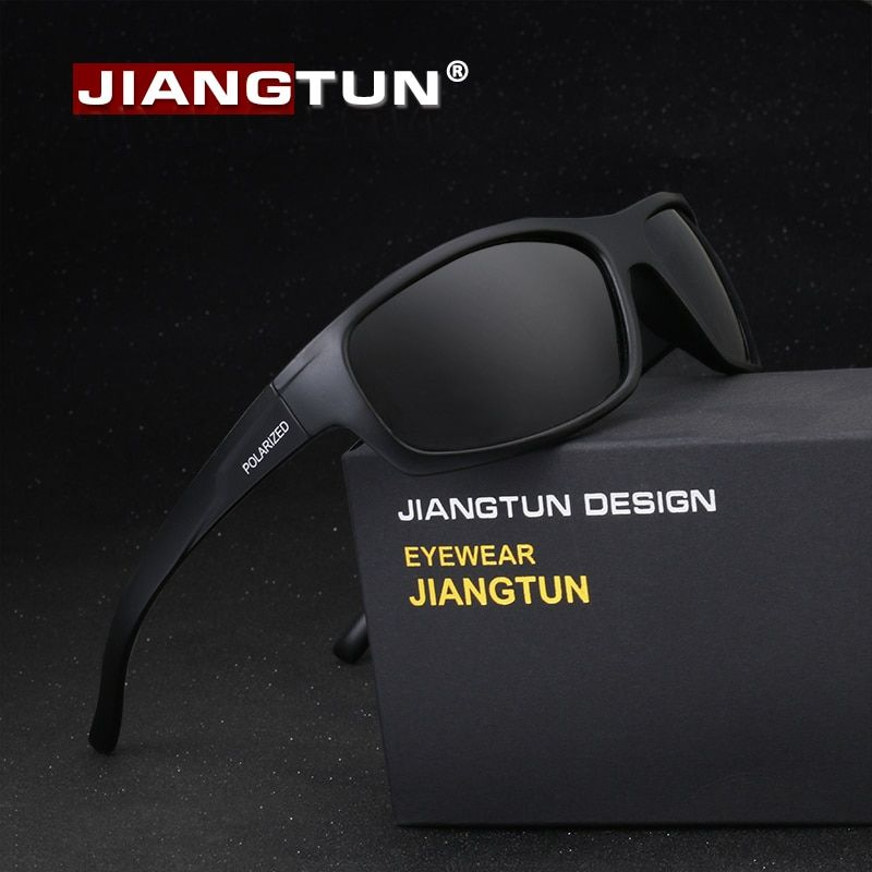3d35f49f74d JIANGTUN Sport Sunglasses Polarized Men Women Brand Designer Driving Fishing  Polaroid Sun Glasses Black Frame Oculos