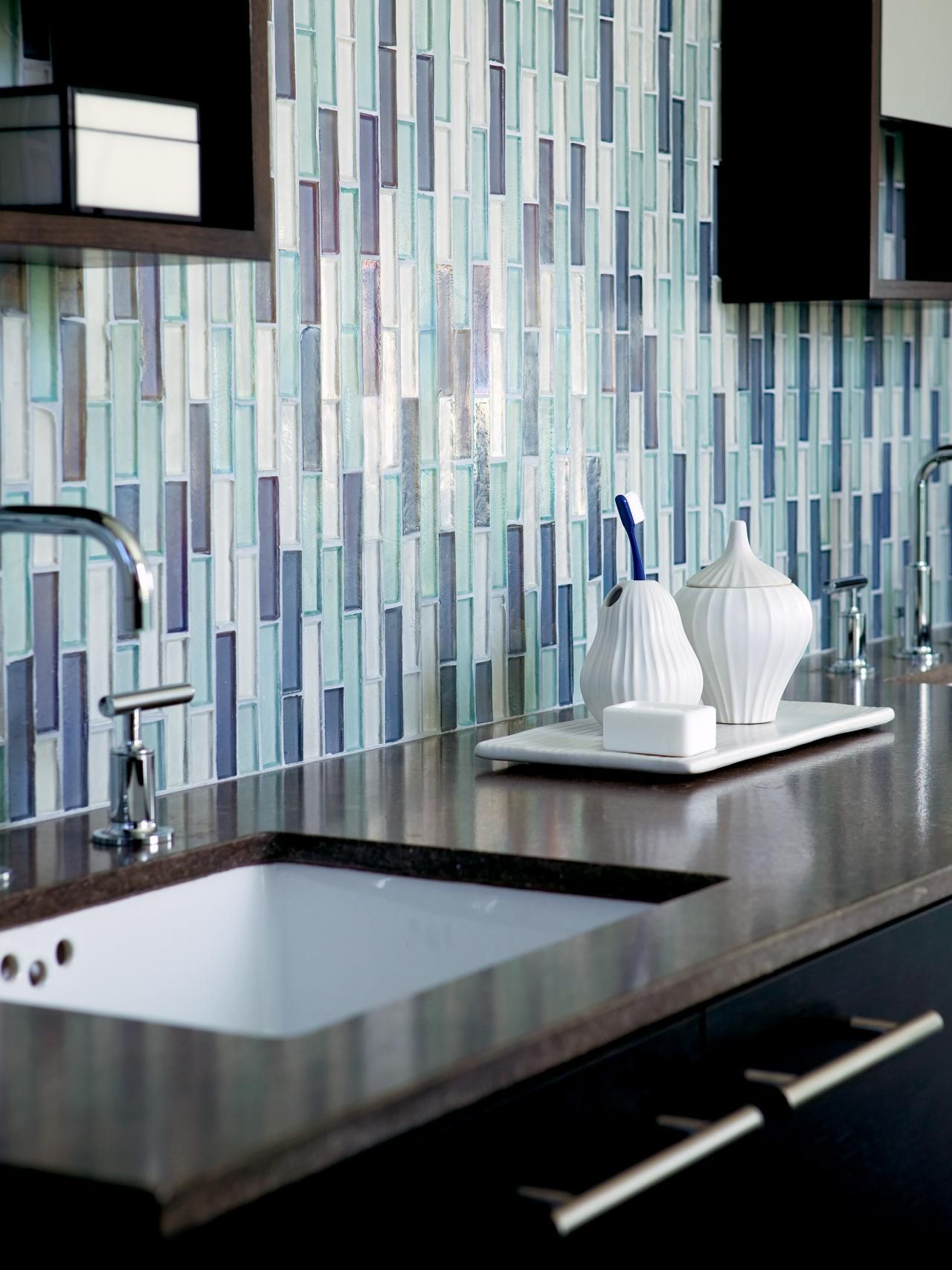 Bathroom Tiles for Every Budget and Design Style | Dark countertops ...
