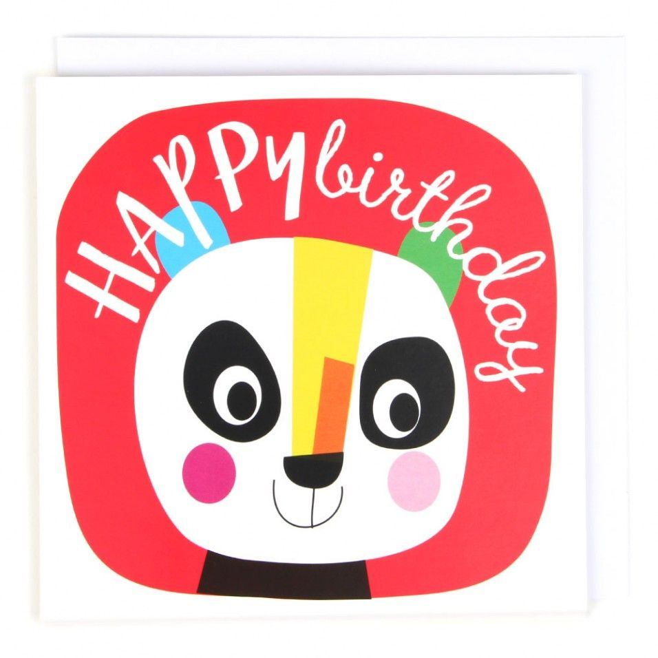 Panda happy birthday card Panda Bears Pinterest – Paperchase Birthday Cards