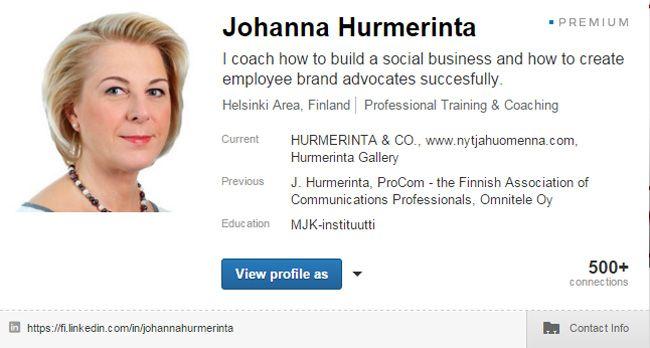 Yhä useammalla suomalaisella on LinkedIn-profiili. Kun itse aloitin LinkedInin hyödyntämisen noin 7 vuotta sitten, oli käyttäjämäärä paljon alhaseimpi. Se, että käyttäjämäärä on kasvanut, on hienoa...