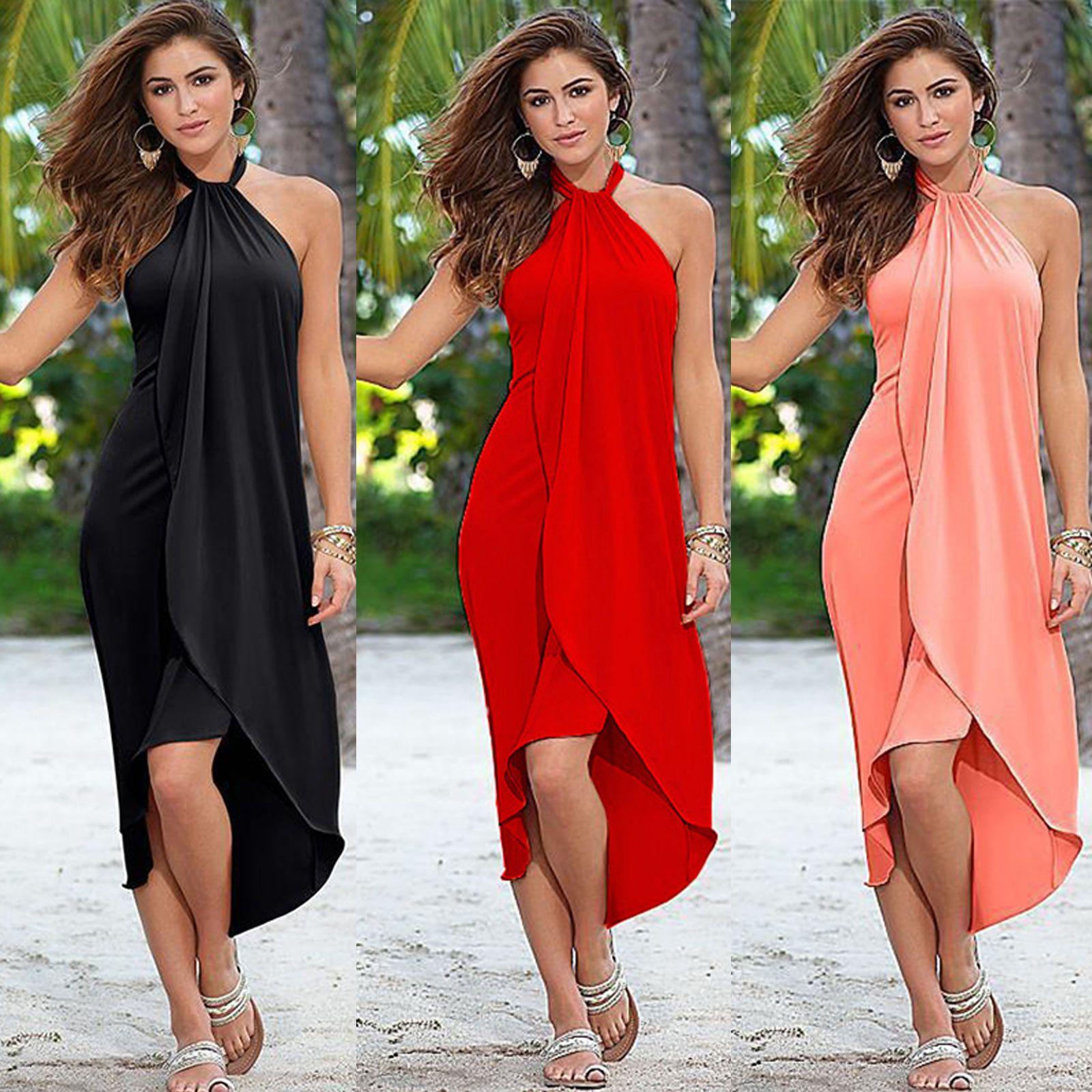 cac8172b274 Women Summer Boho Long Maxi Dresses Evening Cocktail Party Casual Beach  Sundress