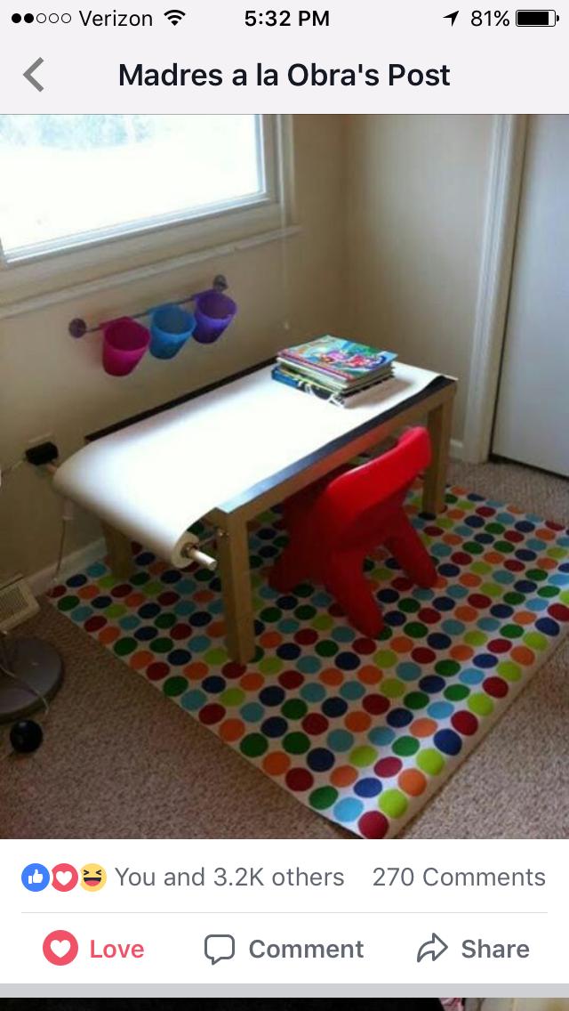 Pin by Francesca Frisina on DIY | Kids art table, Art ...