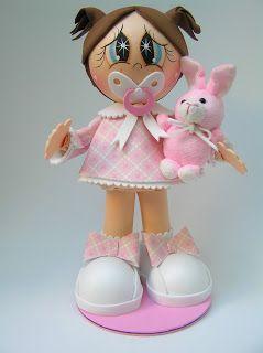 Pasaloda Muneca Bebe Eva Pinterest Dolls Babies And Manualidades - Bebe-de-goma-eva