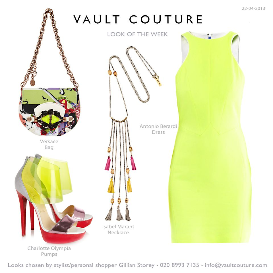 Spring has sprung! Embrace the new season with a fresh new colour palette. A zingy yellow dress makes a strong statement come evening, especially when paired with Charlotte Olympia's PVC sandals - transparency is a huge trend for Spring/Summer. Finish with a print-perfect bag.