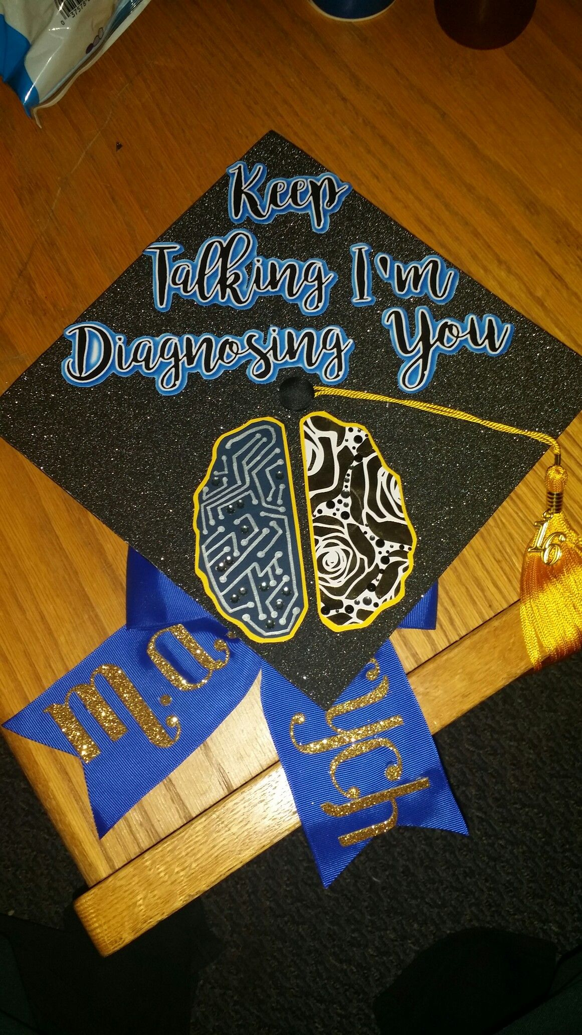 Bachelors in psychology graduation cap 2016 created by