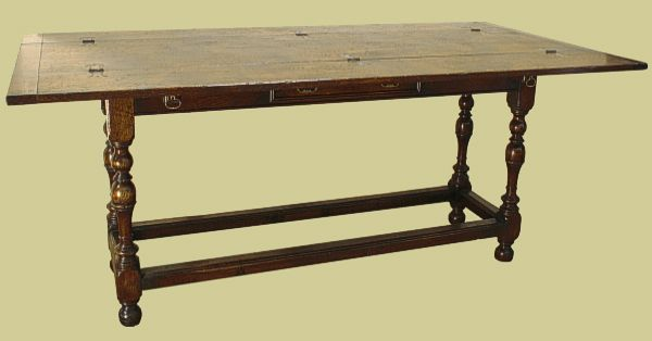 Folding Hunt Table Oak With Drawer Table Oak Dining Table