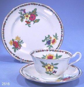 Sampson Bridgwood Anchor China Vintage Bone China Tea Trio Pattern