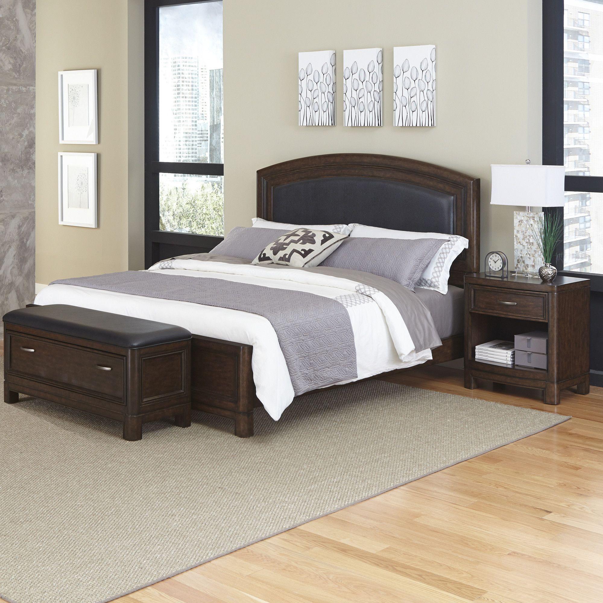 Best Crescent Hill Panel 3 Piece Bedroom Set Bedroom Sets 400 x 300