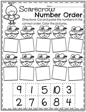 Fall Preschool Unit | Espantapájaros, Preescolar y Hoja