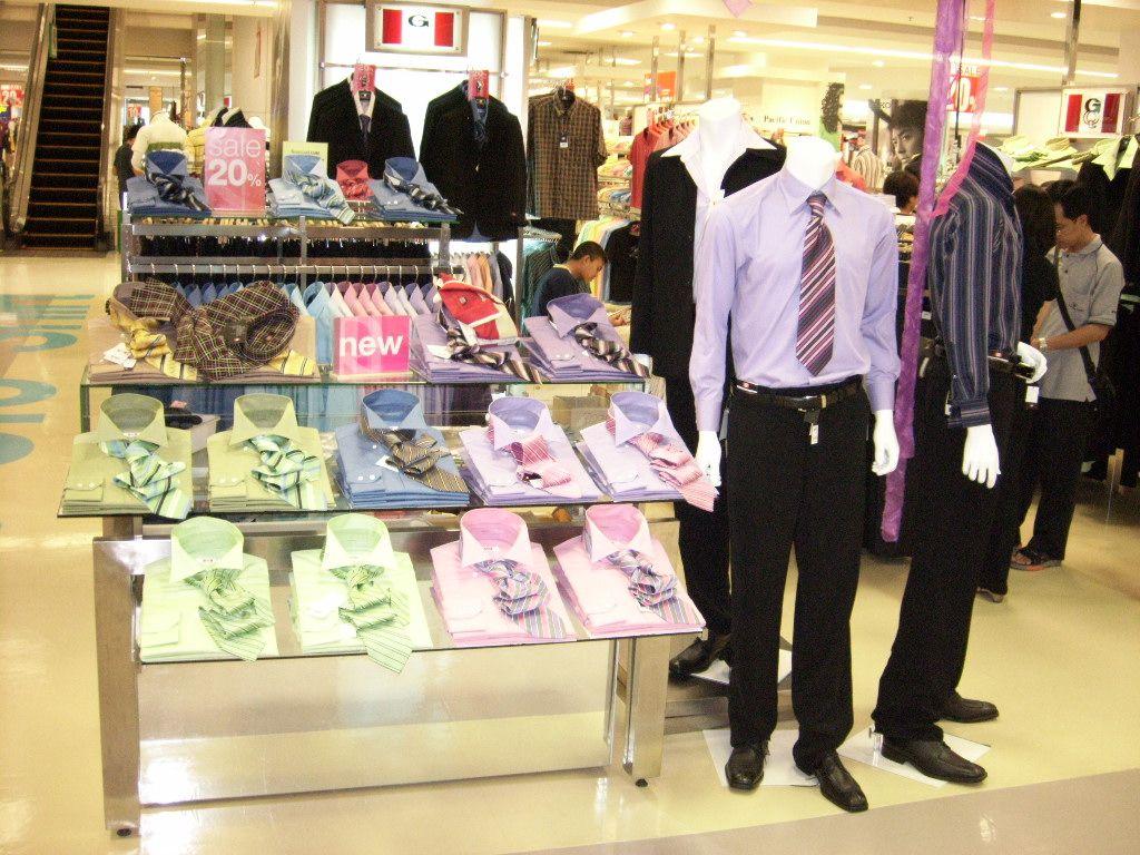 Formal Shirts display On Nesting Table