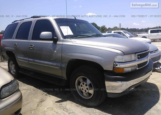 2001 Chevrolet Tahoe On Online Auction By July 27 2016 Chevrolet Tahoe Chevrolet Tahoe