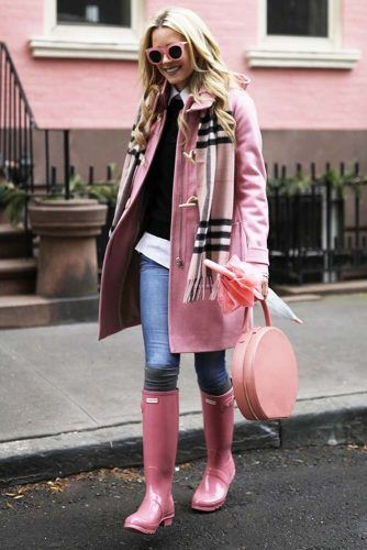 5cddad38f0ef94 Stylish Outfits with Rain Boots that Really Make a Splash ☆ See more  https