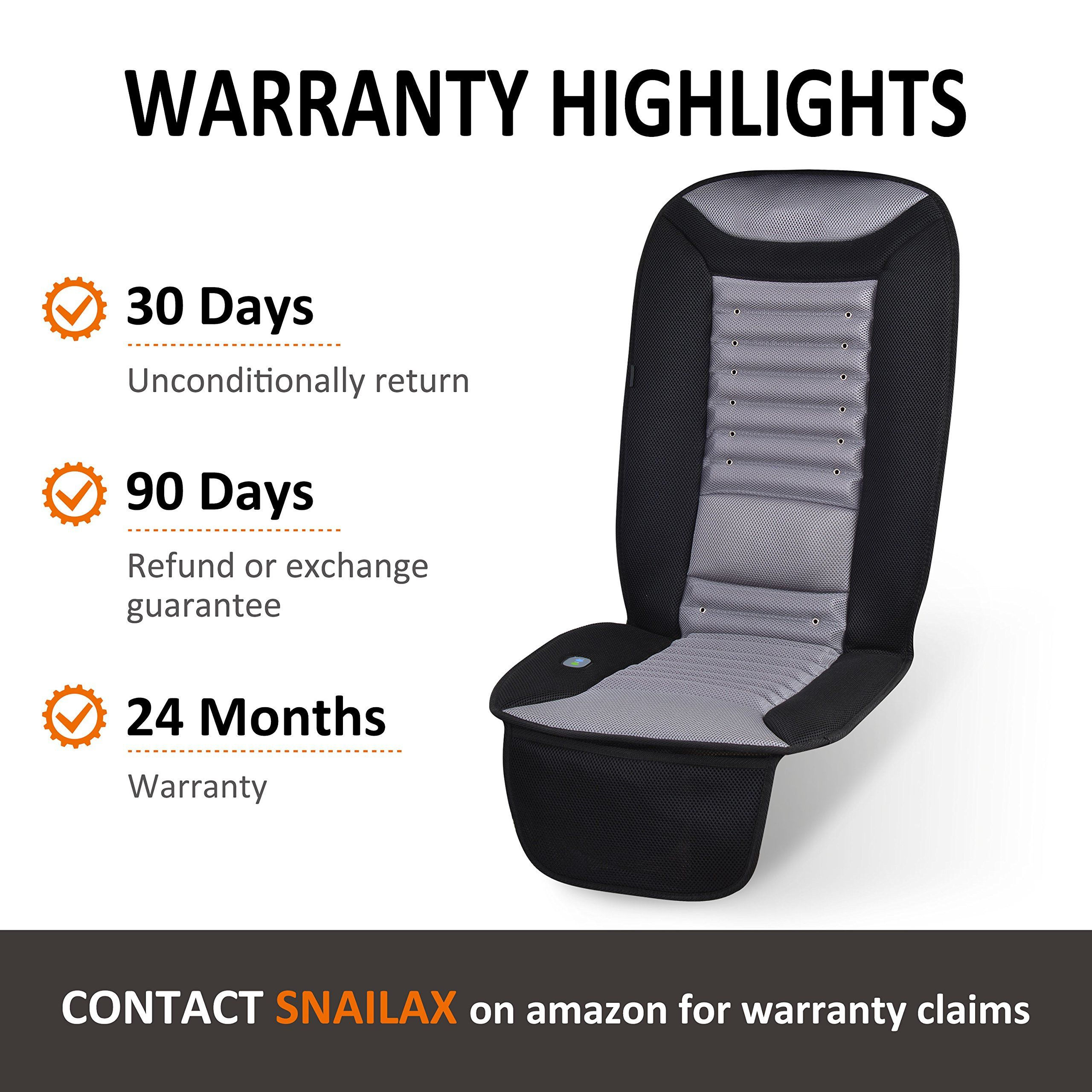 Snailax Cooling Car Seat Cushion With Massage Car Seat Cooling