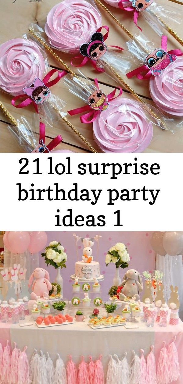 21 lol surprise birthday party ideas 1 21 LOL Surprise Birthday Party Ideas  U me and the kids Loving this gorgeous Oh My Bunny 1st Birthday Party The dessert table is a...
