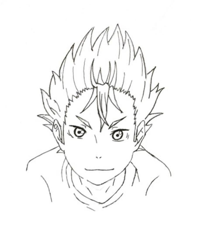 Nishinoya Haikyuu No Color Haikyuu Anime My Drawings Art