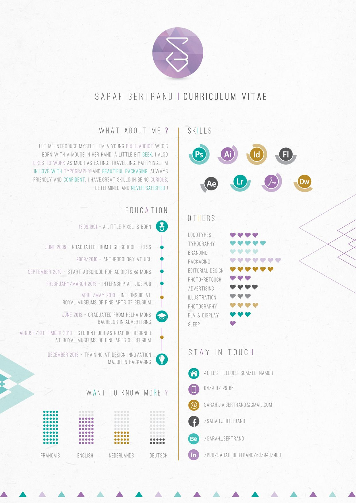 Self Promotion / Resume 2.0 on Behance เรซูเม่, กราฟิก